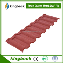 lightweight roofing materials Alumimum -zinc Stone Coated Metal Roof Tiles for villa