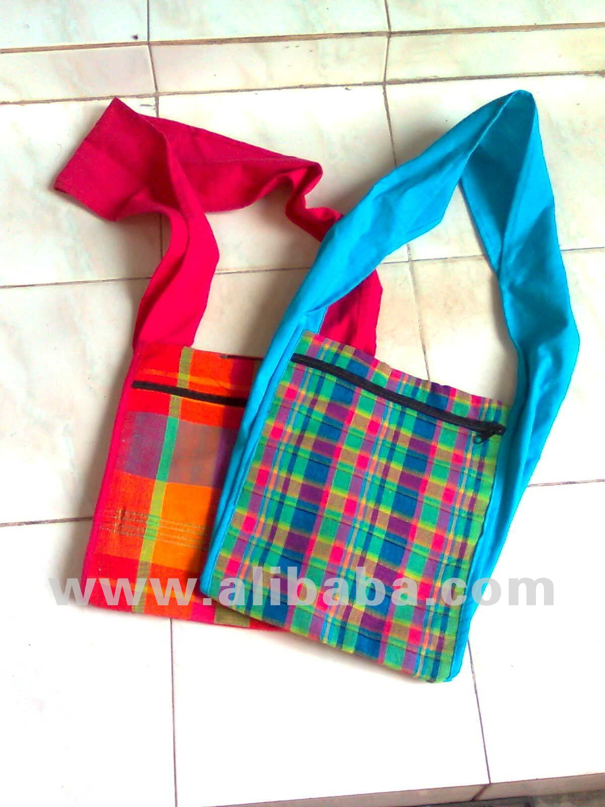 Handloom Long Handle Slim Bag - Large