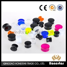 Manufactory wholesale cheap custom ear gauges plug double flare ear flesh tunnels