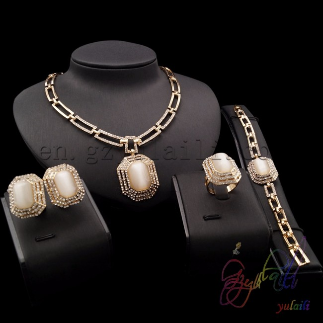 fashion jewelry set gold plated necklace Indian Wedding Gold Plated Jewelry east indian wedding jewelry