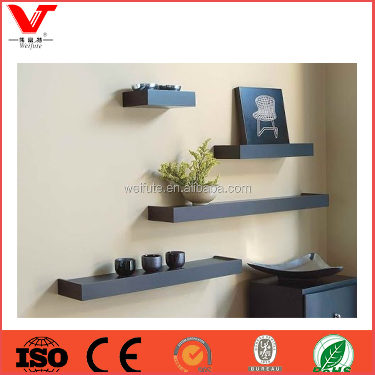 High quality living room decoration floating wall shelf with photo frame