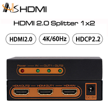 18Gbps 1080P Full HD V2.0 HDR 4K HDMI Splitter 1x2 1 in 2 out