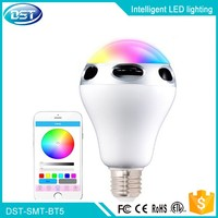 Color Temperature Adjustable LED Bulb Light B22 E26 E27 10w 1100lm RGBW Smart Bulb Wireless With Music Speaker