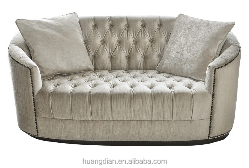 foshan furniture modern design cheap 2 seater velvet chesterfield sofa