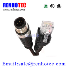 Ethernet Adapter M12 to RJ45 Bulkhead Connector