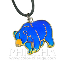 Fashion Children Jewelry Mood Animal Necklace with Bear Pendant
