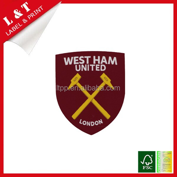Hotselling embroidered appliques logo patches for sports clothes