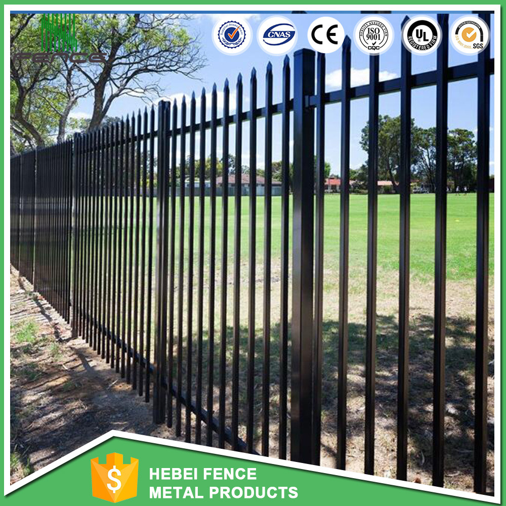decorative prefab security color steel square tube iron fence ISO9001