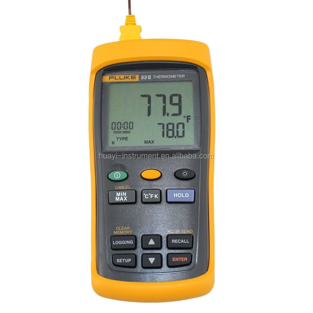 Fluke 53-ii digital thermometer with infrared USB, Fluke 53 ii digital thermometer with data logging