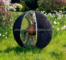 garden metal stone ball sculpture