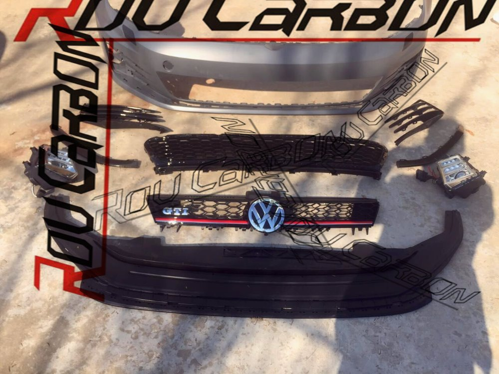New Carbon Fiber Car Side Skirt for Vw Gol f 7 MK7 GTI