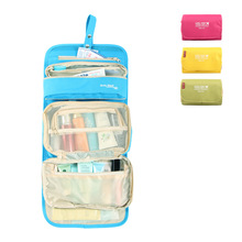 foldable hanging waterproof travel toiletry storage organizer makeup Cosmetic bag