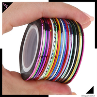 free sample New Mixed Colors Nail Rolls Striping Tape Line