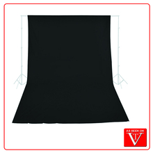 Professional Black Muslin Backdrop photo background 20 feet (L) x 10 feet (W) Extra Large 3*6m