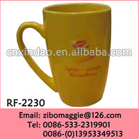 Barrel Shape Ceramic Promotion Cup with Lipton Design for Disposable Insulated Coffee Cups