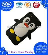 2014 animal silicone phone cases, lovely penguin phone skin covers