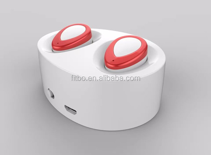New Model mini wireless bluetooth earphone earbuds with charger box for Iphone 7 + 7plus