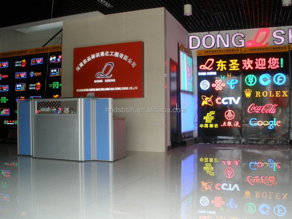high quality brushed or polished stainless steel led signs/led open sign/small led signs