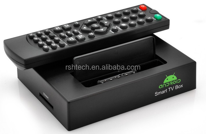 android 4.2.2 dual core smart tv box , supports google tv market ,skype webcam chat and VGA output