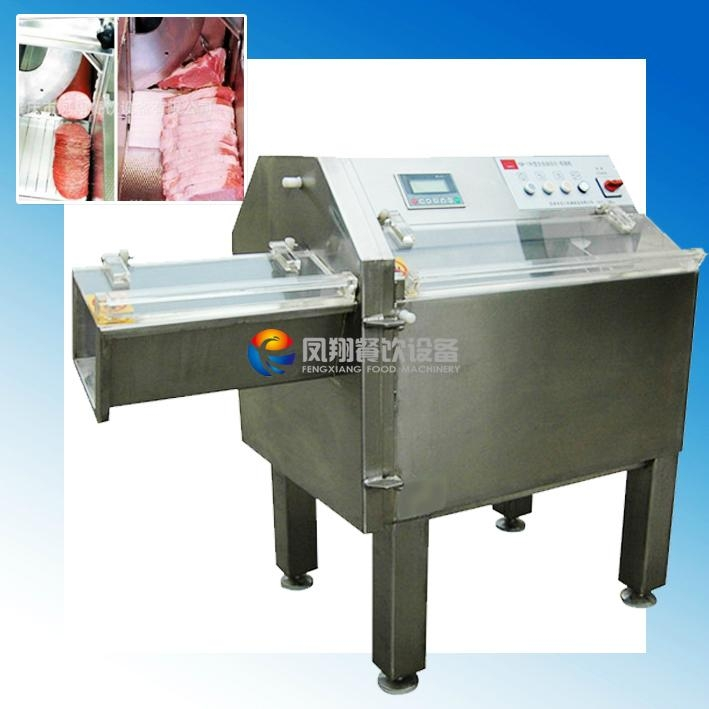 Industrial Meat Slicer Frozen Beef , Bacon , Sausage Fish Chunk Cutting Machine with 1-32mm