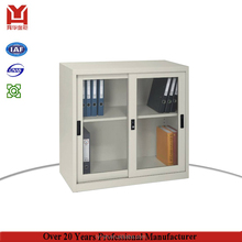 Commercial Unassembled Metal Office Furniture Up Sliding Glass Door Stainless Steel Filing Cabinet With Lock