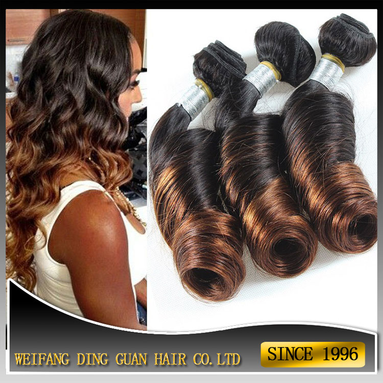 Wholesale Ombre Aunty Funmi Bouncy Curls Brazilian Human Hair Spiral Curl Spring Curl Funmi Hair