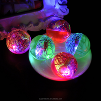 China Manufacturer LED High Bouncing Rubber Ball, Flashing Rubber Bouncing Balls With 3D Fish Inside