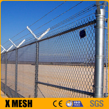 ASTM 392 standard heavily galvanized chain link fence with posts and installing accessories for border fencing