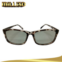 3d converter with polarized glasses lens material
