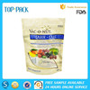 Resealable low price standing pouch with window for dog food packaging bag