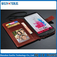 for lg g2 wallet case with card holder, Leather phone Case for LG G2, for lg g2 case