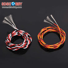 DIY Futaba /JR Color 22# 22AWG Servo Extension Cable/ Twisted Wire 1M without Connector