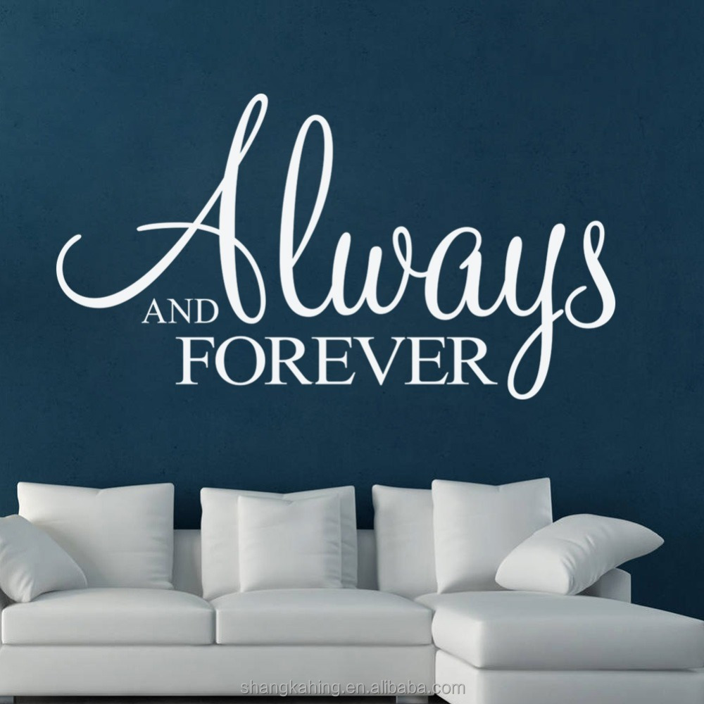 Always and Forever Removable wall lettering tattoo Art vinyl quote wall stickers home wall decals