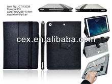 For Apple iPad Air iPad 5 Wholesales OEM Customized Wallet PU Leather Stand Case