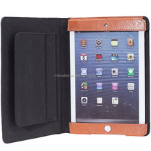 Italian Veg Tanned Leather Tablet Case / Tanned Leather Tablet Covers with Hidden Magnet Closure / High quality Tablet Cases