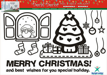 1077 xmas cling static window sticker house decal house sticker