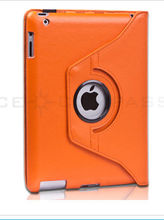orange leather cover for ipad 2/3/4