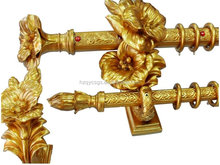 New design delicate double wooden curtain pole