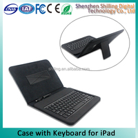 For Apple iPad Tablet Leather Wired Keyboard Case Cover with Stand