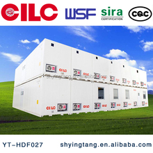 Safe and durable prefab flatpack house, container house for office