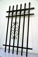 China supplier Low Carben Steel Garden Security Fence, decorative garden fence