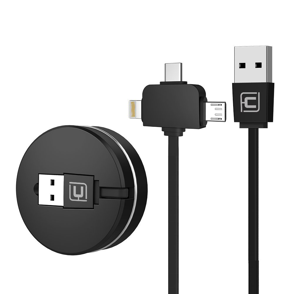 CAFELE Trending Products Fast Retractable Charger Micro USB to Type C Cable 3 in 1 Charging USB Cable Wire