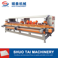 ST-1200 10 heads stone arc edge polishing machine, tile polishing machine