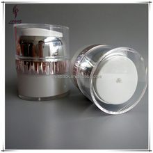 High end sckin care package 50g acrylic airless jar cosmetic