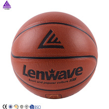 Lenwave branded colorful cheap custom game basketball wholesale