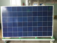 Transparent Polycrystalline Silicon Material and 1640*990*35mm Size poly solar panel 220v 250w