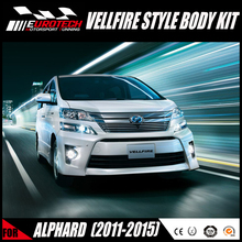 HIGH QUALITY 100% FITMENT VELLFIRE STYLE FACELIFT BODY KIT BUMPER for TOYOT ALPHARD 2011-2015