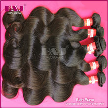 Without Shedding No Tangle Vigin H&J Peruvian Body Wave hair piece
