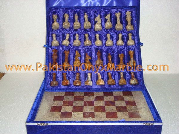 HAND CARVED MARBLE CHESS BOARDS WITH FIGURES