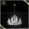 2015 new products hot sale modern style french gold crystal candle chandelier glass chandelier light